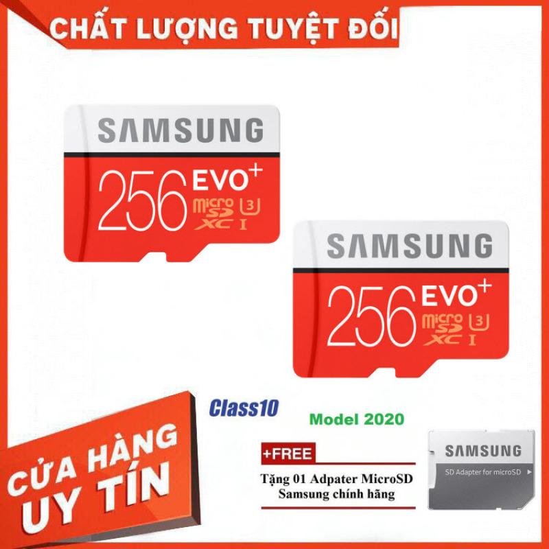 [Giá Rẻ Bất Ngờ] Combo 2 Thẻ nhớ MicroSD Samsung EVO Plus 4K 256GB 100MB/s 256GB Box Hoa - Hàng Chính Hãng