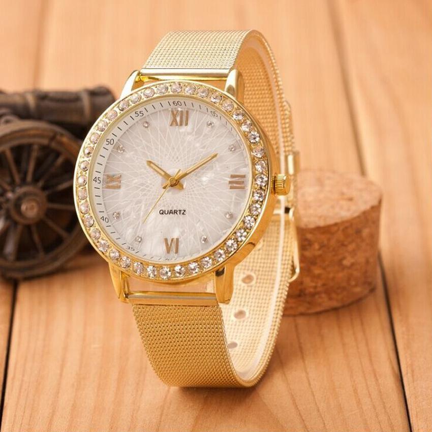 Đồng hồ nữ QUARTZ chất liệu thạch anh, kim cương sang trọng, mạ hợp kim + Tặng thời gian bảo hành 1 năm bán chạy