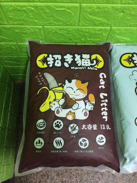 Cát Vệ Sinh cho Mèo Maneki neko Giá rẻ - Mùi Chuối Socola