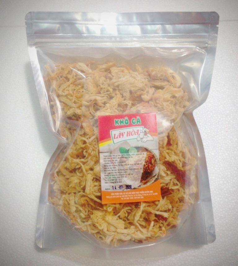 [HCM]500gr Khô gà BƠ TỎI Cay Giòn Lày Hòa (1 BỊCH ZIP 500g) chế biến từ những nguyên liệu tươi mới đảm bảo vệ sinh an toàn thực phẩm