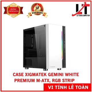 CASE XIGMATEK GEMINI WHITE - PREMIUM M-ATX, RGB STRIP thumbnail