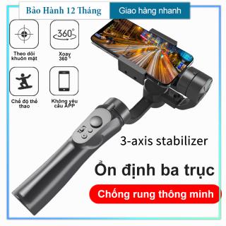 Tay Cầm Gimbal Bluetooth Chống Rung 3 Trục Cho Điện Thoại 3-Axis H4 Cao Cấp, Tương Thích Với Điện Thoại IOS, Android, Chống Rung Cực Tốt, Chuyển Cảnh Nhanh Giúp Hình Ảnh, Video Đẹp Và Mượt Mà, Thiết Kế Nhỏ Gọn, Tiện Lợi thumbnail