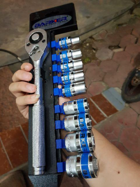 Bộ khẩu 1/2 10PCS tay 2 chiều  BARKER