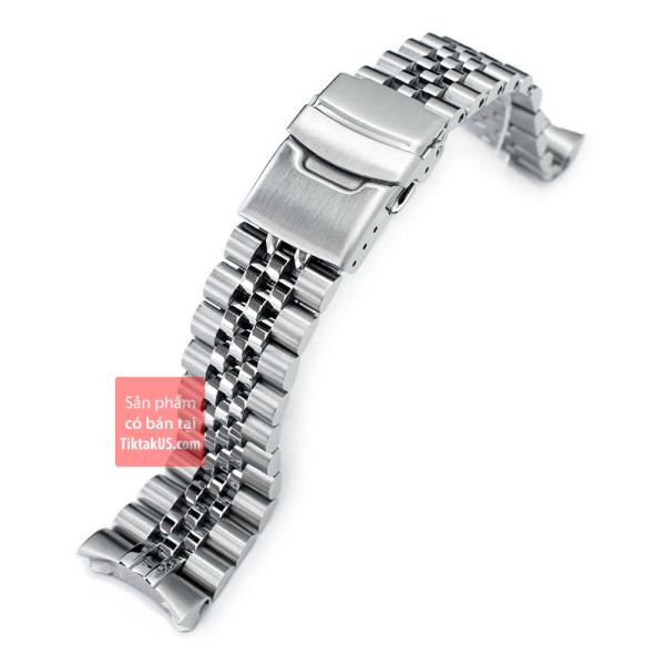 Nơi bán Dây đồng hồ endlink đặc thép không gỉ Jubilee cao cấp cho Seiko SKX007 22mm Super-J Louis JUB 316L Stainless Steel Watch Band for Seiko SKX007