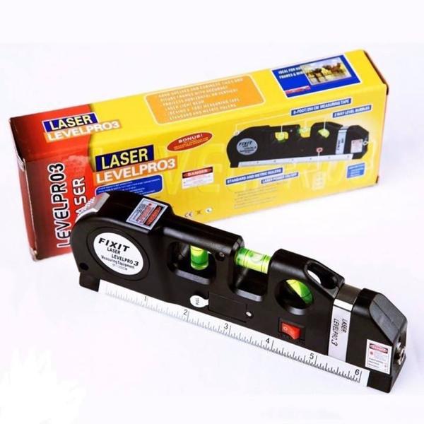 Thước đo laser - thước đo đa năng cầm tay giá rẻ PRO 3 (Đen)- - Thước Nivo Laser - Thước Nivo laze đa năng - Thước Ni vô laze - Thước Ni vô Laser 3 chức năng - Cân bằng ngang. Thước đo laze siêu chuẩn