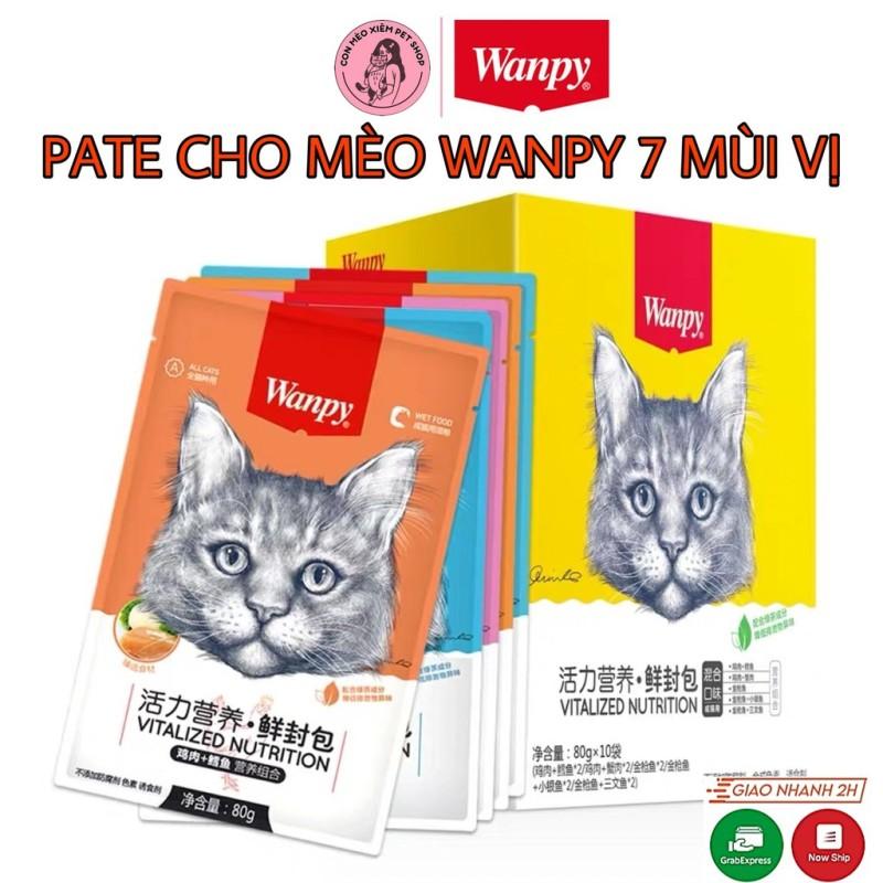 Pate Cho Mèo Wanpy 7 Mùi Vị Gói 80G- Thức Ăn Dinh Dưỡng Cho Mèo Simple Pet Shop