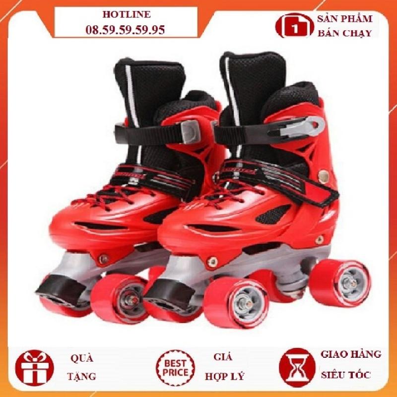 Phân phối (Tặng bảo hộ) Giày trượt patin trẻ em bánh ngang