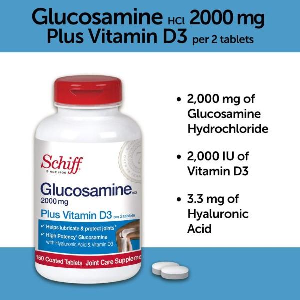 [HCM]Viên Hỗ Trợ Sụn Khớp Schiff Glucosamine D3 150 Viên cao cấp
