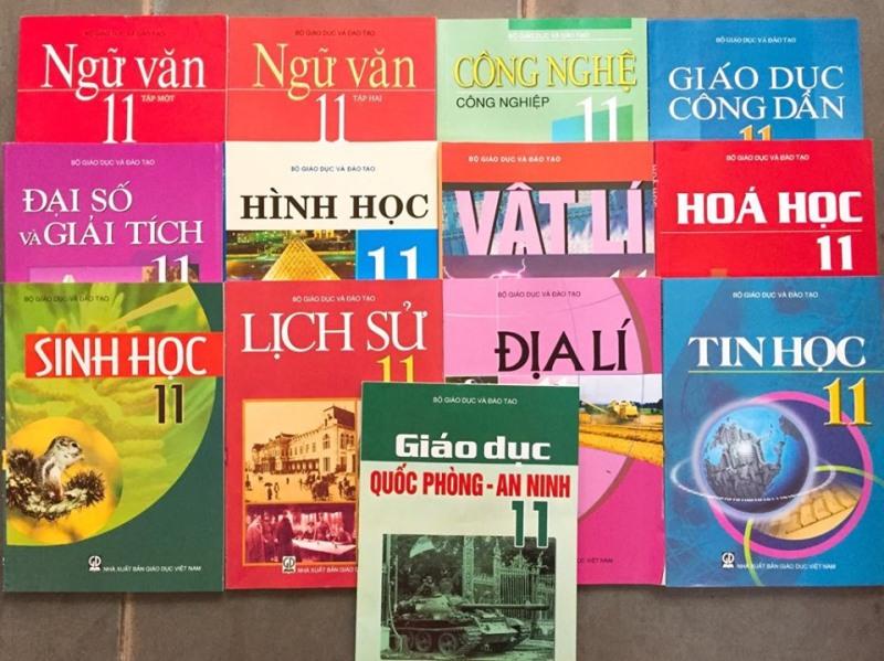 Bộ sách giáo khoa lớp 11 - 13 quyển (không sách tiếng anh)