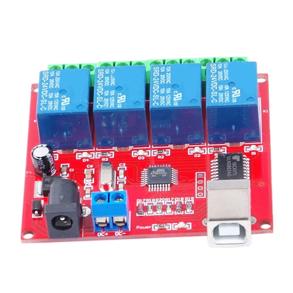 Bảng giá Drive Free USB Control Switch 4-Way 12V Relay Module Computer Control Switch PC Intelligent Control Phong Vũ