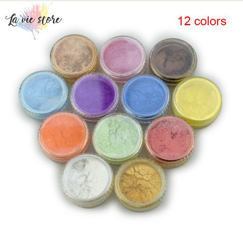Mua La vis 12 Color Mica Pigment Powder for Soap Cosmetics Resin Colorant Dye Nail Art