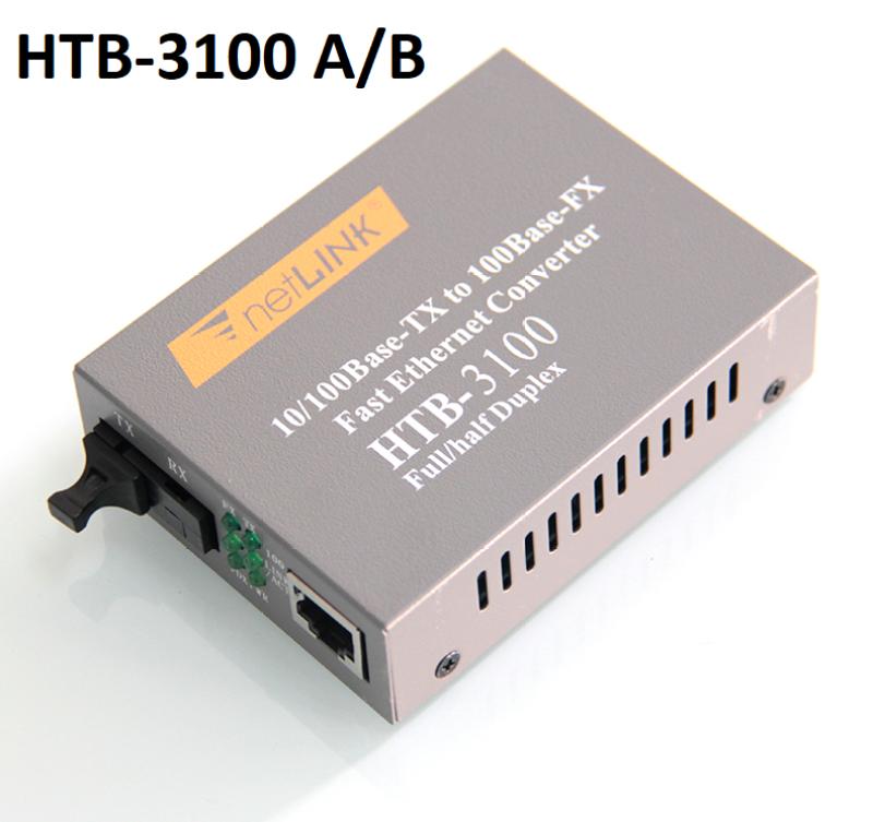Bảng giá Thiết Bị Chuyển Đổi Quang Điện 1 Sợi Media Converter 1FO 1 Quang 1 LAN 100Mbps Netlink HTB-3100AB Phong Vũ