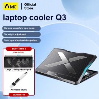 Máy Làm Mát Máy Tính Xách Tay Chơi Game MC Q3 15.6 Inch Sáu Quạt Hai Cổng USB Im Lặng Máy Tính Xách Tay Tấm Làm Mát, Xách Tay Có Thể Điều Chỉnh Máy Tính Xách Tay Đứng Cho Máy Tính Xách Tay thumbnail