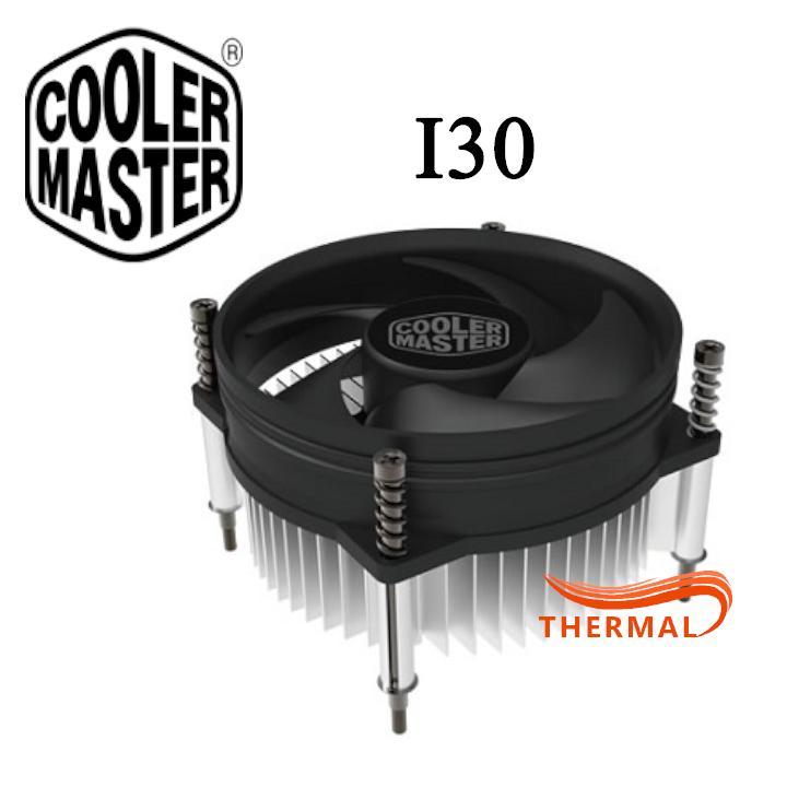 Quạt tản nhiệt CPU Cooler Master I30 [ThermalVN] - Sức gió tốt, Quay êm, Hỗ trợ socket 115x