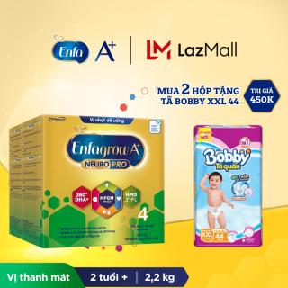 Bộ 2 hộp Sữa bột Enfagrow A+ Neuropro 4 với 2 -FL HMO cho trẻ từ 2 6 tuổi 2.2kg - Tặng 1 gói tã Bobby XXL44 thumbnail