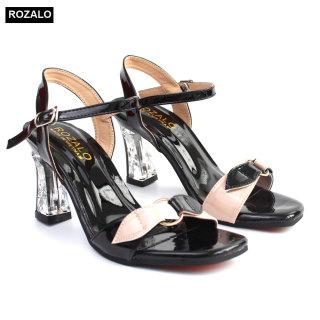 Sandal nữ quai ngang gót trong suốt Rozalo R3700 thumbnail