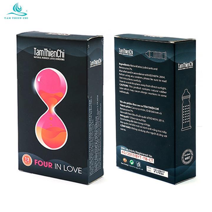 Bao cao su Tâm Thiện Chí TTC Four In Love hộp 12 cái x 2 hộp