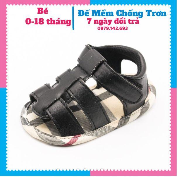 Giày Tập Đi Cho Bé Dép Tập Đi Cho Bé Cực Chất Sang Choảnh Đế Mềm Chống Trơn Trượt Cho Bé 0-18 tháng giá rẻ