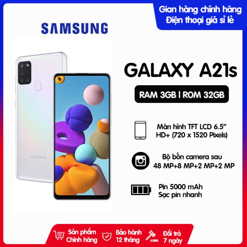 Điện thoại Samsung Galaxy A21s RAM 3GB ROM 32GB- Hàng chính hãng, Nguyên Seal, mới 100%, bảo hành chính hãng 12 tháng