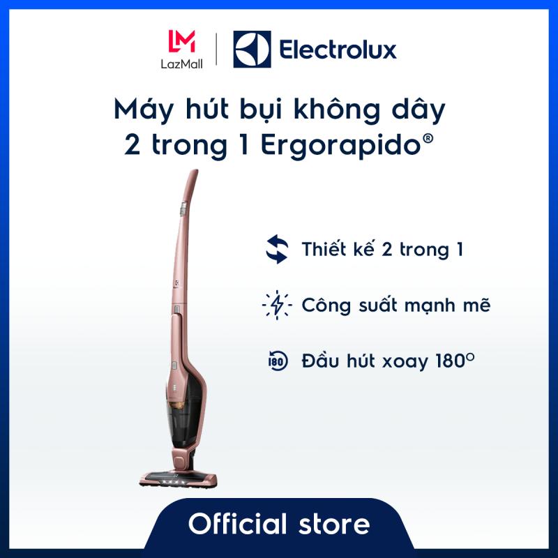 [Miễn phí giao hàng HCM & HN] Máy hút bụi không dây Electrolux Ergorapido® ZB3314AK – Thiết kế 2 trong 1 linh hoạt, gọn nhẹ tiện dụng–Màu hồng ánh kim sang trọng - Hàng chính hãng