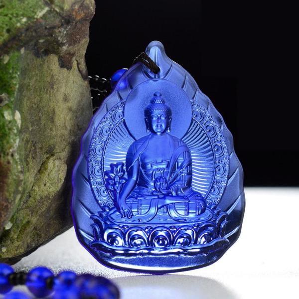 Chuỗi hạt đeo cổ mặt Đức Phật Dược Sư tựa lá đề - CH01