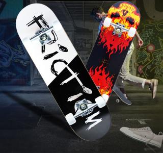 Ván Trượt Skateboard , Ván Trượt-Ván Trượt Thể Thao-Ván Trượt 70 80x20x10 Ván Trượt Skateboard -Va n Trươ t Đe p-Ca Ti nh-Ma nh Me , Thiết Kế Đúng Tiêu Chuẩn Thi Đấu , An Toàn Chắc Chắn Độ Bền Cao , Bh 12 Tháng 1 Đổi 1. thumbnail