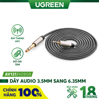 Dây âm thanh 3.5mm đực ra 6.35mm cao cấp UGREEN AV127 - Hãng phân phối chính thức thumbnail