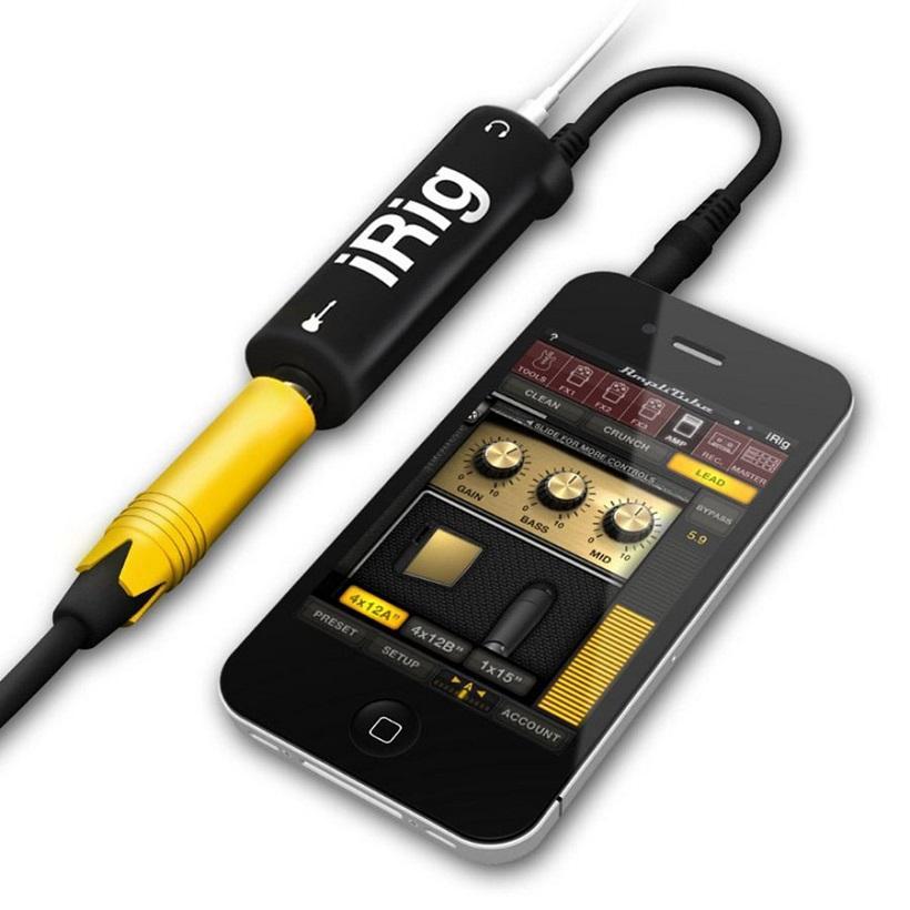 Thiết bị thu âm cho đàn Guitar Irig - Dùng cho điện thoại và các thiết bị di động - Thiết bị thu âm Live Stream Irig - irig AmpliTube - Thiết bị thu âm Irig - Cáp kết nối đàn guitar với điện thoại iRig AmpliTube cao cấp