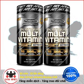 Viên uống bổ sung Vitamin Muscletech Platinum Multi Vitamin 90 viên tăng hệ miễn dịch, chống oxy hóa, tăng trao đổi chất cường thị lực, thumbnail