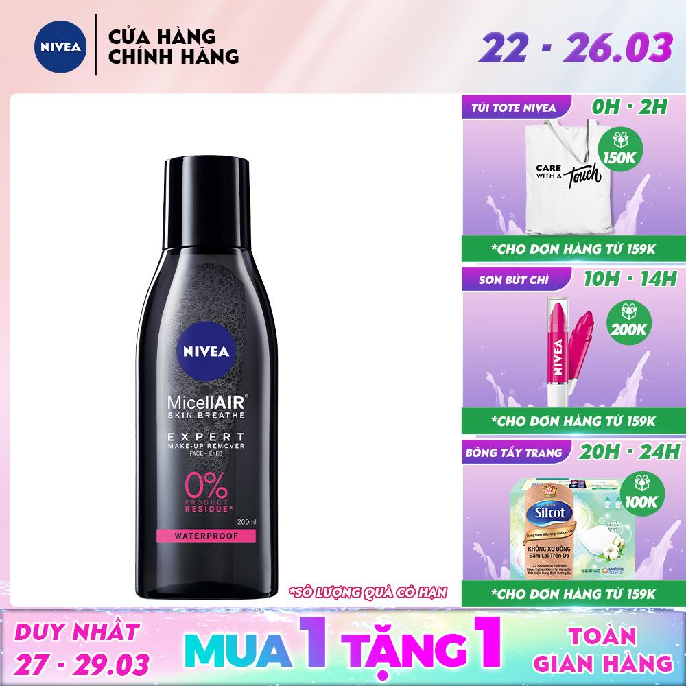 Nước tẩy trang chuyên nghiệp Nivea MicellAir Skin Breathe 200ml (88513)