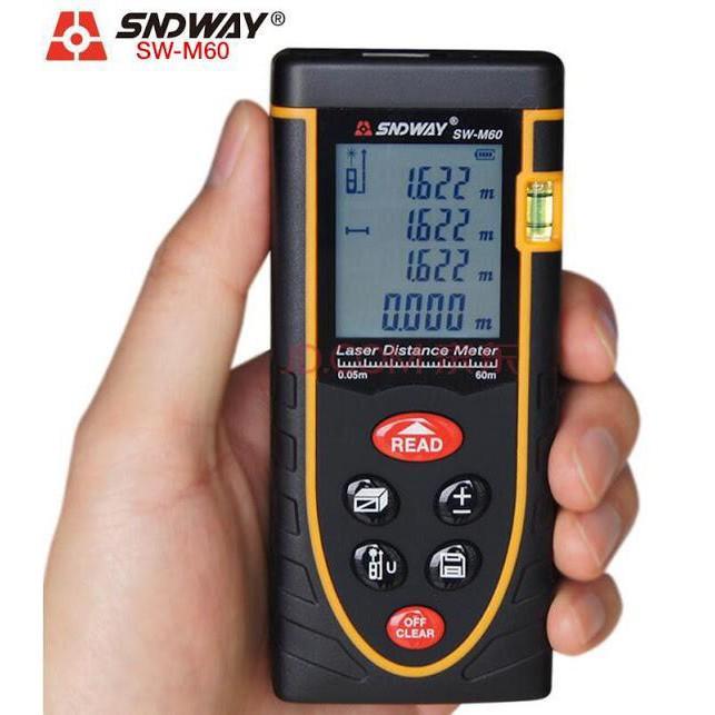 Thước đo khoảng cách bằng tia laser SNDWAY phạm vi 60m (SW-M60) giá rẻ