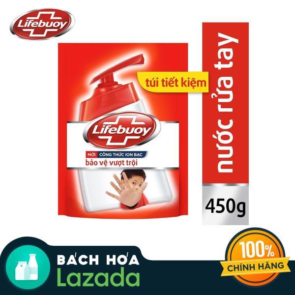 Nước rửa tay Lifebuoy bảo vệ vượt trội 10 túi tiết kiệm 450g giá rẻ