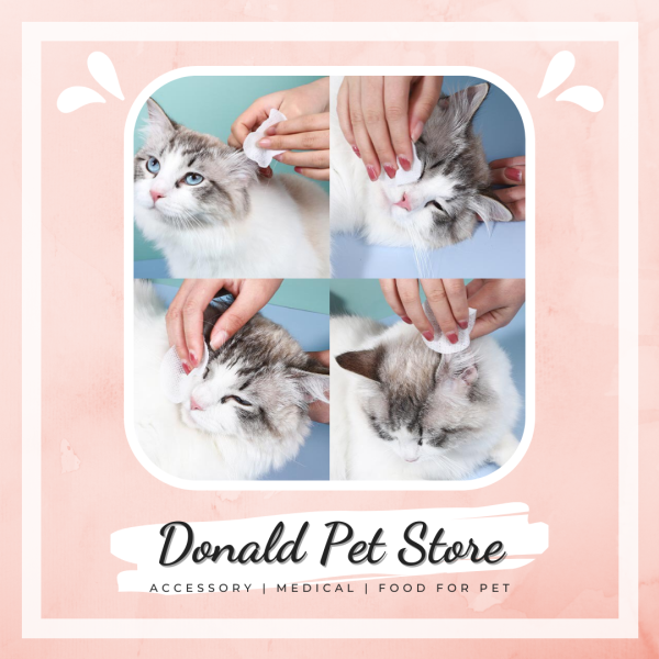 Khăn giấy lau mắt cho chó mèo, vệ sinh tối đa vùng đầu và tai, hỗ trợ các bệnh về mắt - Donald Pet Store