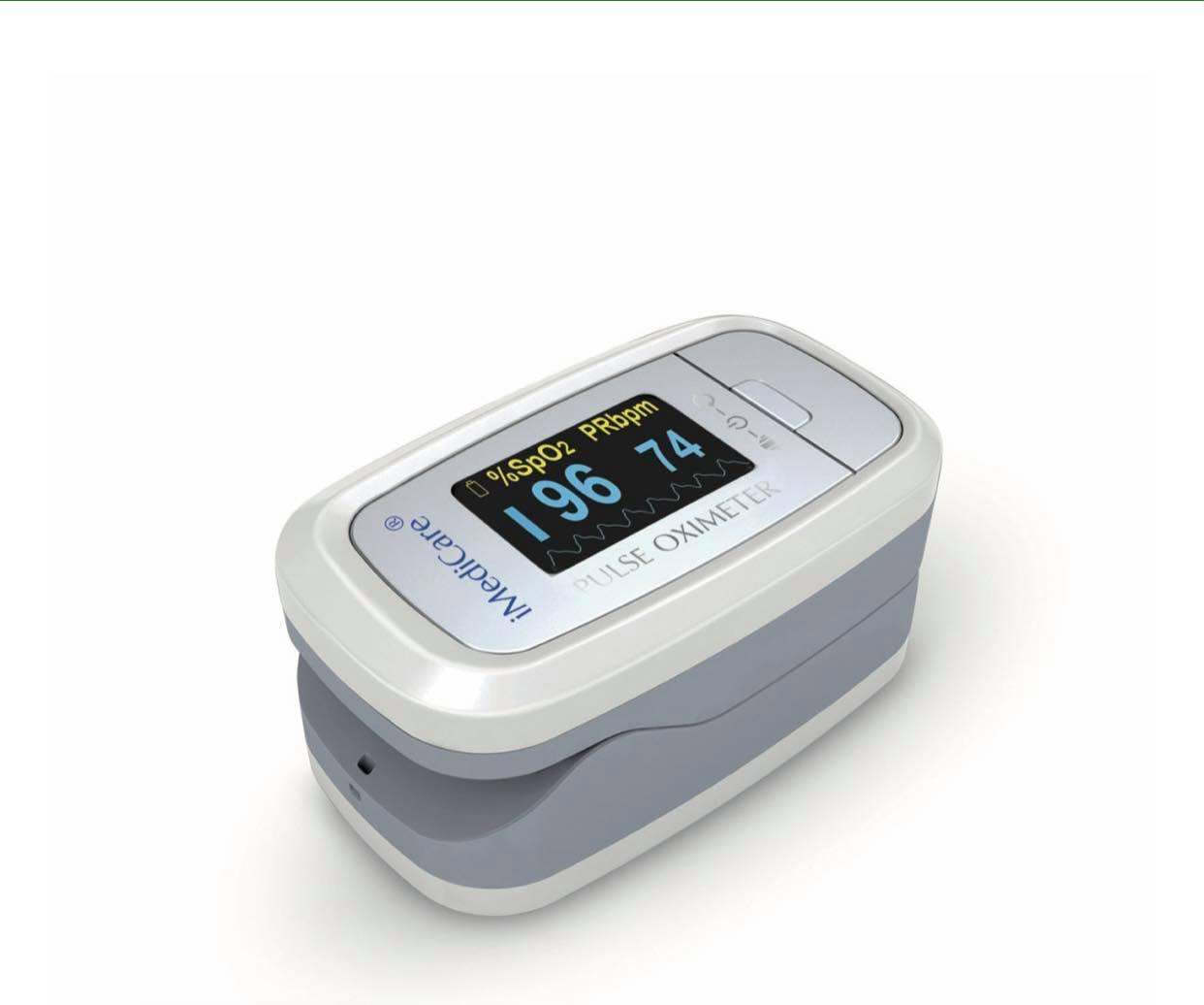 Máy đo nồng độ oxy bão hòa trong máu SpO2 Và Nhịp Tim iOM-A6 ( Chính Hãng Singapore)