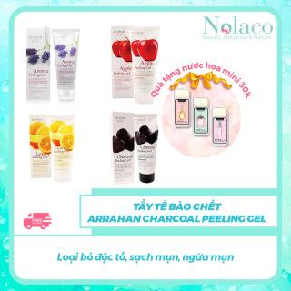 Tẩy tế bào chết Arrahan Charcoal Peeling Gel + Tặng kèm nước hoa khô mini 30k + Loại bỏ độc tố, sạch mụn, ngừa mụn + NOLACO thumbnail
