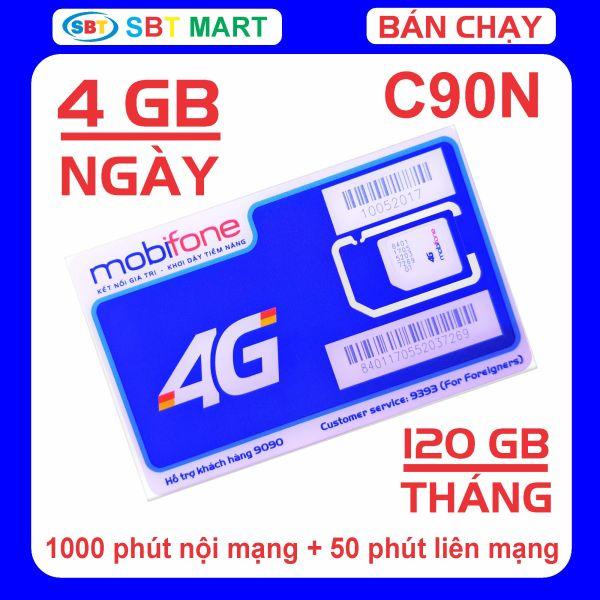 SIM 4G MOBIFONE 120 GB/THÁNG TỐC ĐỘ CAO (4 GB/ngày)
