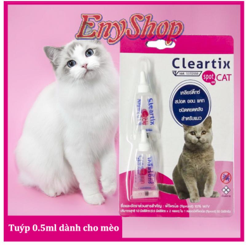 Nhỏ gáy trị ve, bọ chét cho mèo CLEARTIX SPOT ON CAT 0.5ml (Thái Lan)