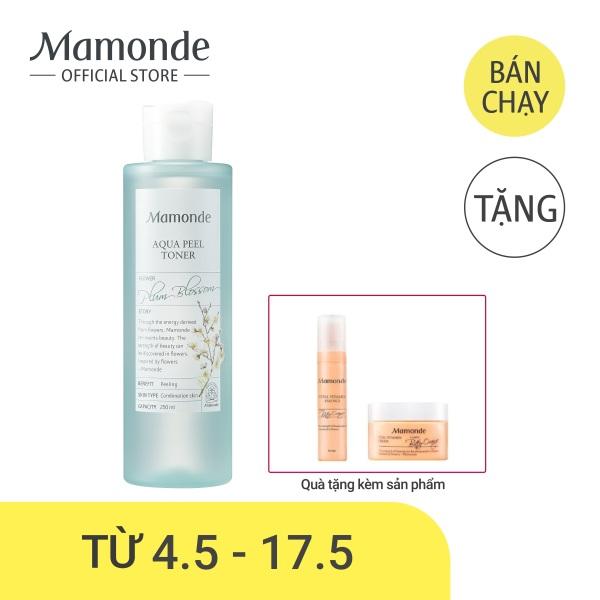 Nước cân bằng dưỡng ẩm loại bỏ tế bào da chết và bụi bẩn trên da Mamonde Aqua Peel Toner 250ml