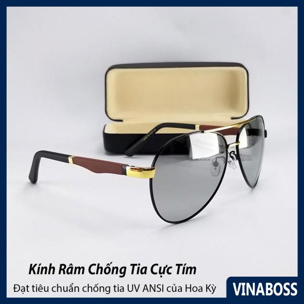 Mua Mắt kính mát nam đổi màu dùng cả ngày và đêm tròng Polaroid - Kính mát nam đổi màu cao cấp VNPOR8842 - Tặng kèm hộp đựng và khăn lau