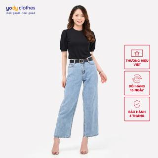 Quần Jeans Nữ YODY ống suông cá tính vải denim QJN4022 thumbnail