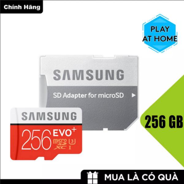 [ Hàng Mới ]  Thẻ nhớ MicroSDXC Samsung Plus 256GB U3 4K - Box Hoa New 2020 (Đỏ) - Tốc độ đọc 100Mb/s - Tốc độ ghi 90Mb/s - Bảo hành 3 năm