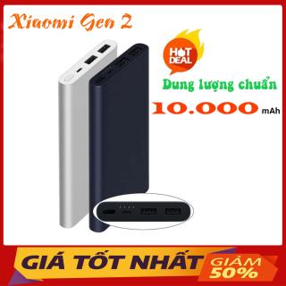 [Bản GEN 2] Sạc Dự Phòng 10000mAh Xiaomi Gen - Sạc Dự Phòng 3.0 2 Cổng Ra, Cáp USB Tích Hợp - Vỏ Bọc Nhôm Cao Cấp - Bảo Hành 6 Tháng thumbnail