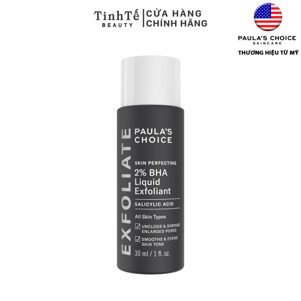 Dung dịch loại bỏ tế bào chết 2% BHA Paulas Choice Skin Perfecting 2% BHA Liquid Exfoliant 30ml