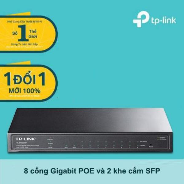 Bảng giá Bộ chia tín hiệu để bàn Jetstream gồm 8 cổng Gigabit POE và 2 khe cắm module quang SFP TP-Link TL-SG2210P  dùng để chia mạng LAN cho các doanh nghiệp vừa, doanh nghiệp nhỏ - Hàng phân phối chính hãng Phong Vũ