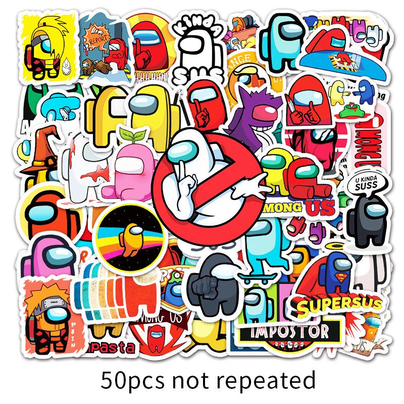 50Đĩa GameAmong UsPhim Hoạt Hình Graffiti Dán Vali Xách Tay Xe Máy Tính Điện Thoại Dán Trang Trí Dán Xe Máy thumbnail