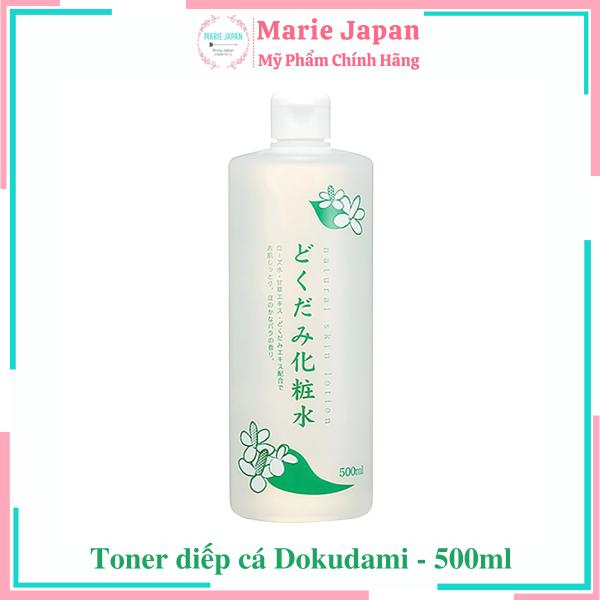[HCM]Toner diếp cá se lỗ chân lông giảm mụn Dokudami 500ml Nhật Bản nhập khẩu