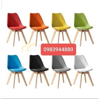 ghế EAMES chân gỗ có đệm hàng nhập khẩu 100% thumbnail
