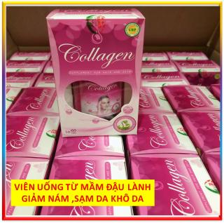 Viên uống bổ sung Collagen, Vitamin, tinh chất mầm đậu nành hỗ trợ giảm các triệu trứng tiền mãn kinh làm đẹp da giảm nám, sạm da, khô da, tóc khô ,tàn nhang do thiếu hụt nội tiết - Hộp 30 viên thành phần thảo dược thiên thumbnail