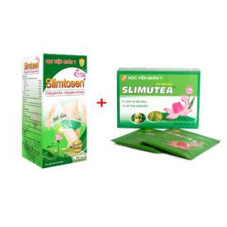 Combo Giảm Cân 1 hộp Slimtosen Extra và 1 trà sen Slimutea thumbnail