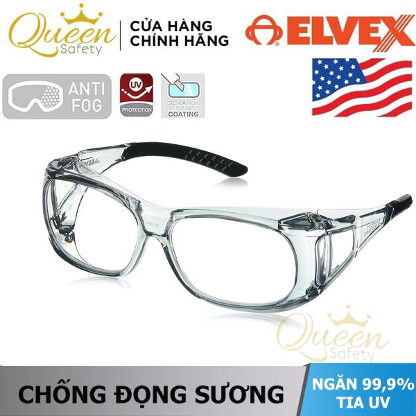 KÍNH BẢO HỘ ELVEX OVR-SPEC SG-37C chống xước, chống va đập, chống tia UV 99,99%, chống bám bụi, chống tĩnh điện, chống hơi nước